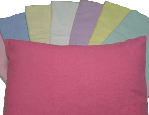 Flannel Pillow Case - Light Solids