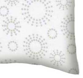 Percale Pillow Case - Grey Dot Circles