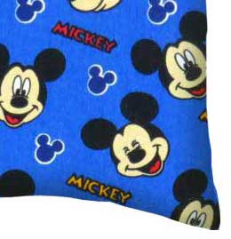 Percale Pillow Case - Mickey Mouse Blue