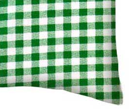 Percale Pillow Case - Green Gingham Check