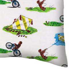 Percale Pillow Case - Curious George Kite
