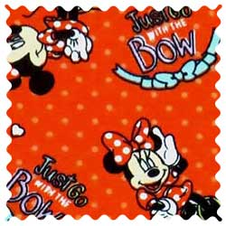 Minnie Mouse Red Fabric