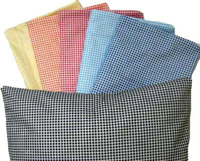 Percale Pillow Cases - Primary Gingham Collection