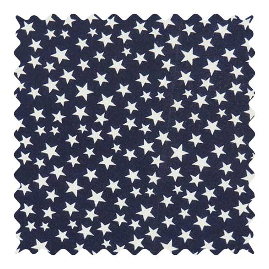 Stars Navy Fabric - 100% Cotton - 17 x 43 inches
