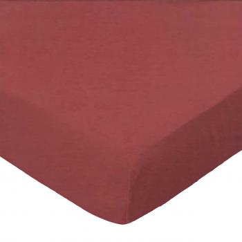 Youth Bed - Solid Burgundy Woven - Fitted - 100% Cotton Percale - Solids Youth Bed Sheets