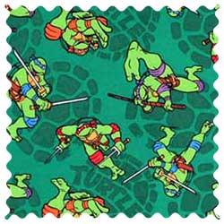 Ninja Turtles Shells Fabric