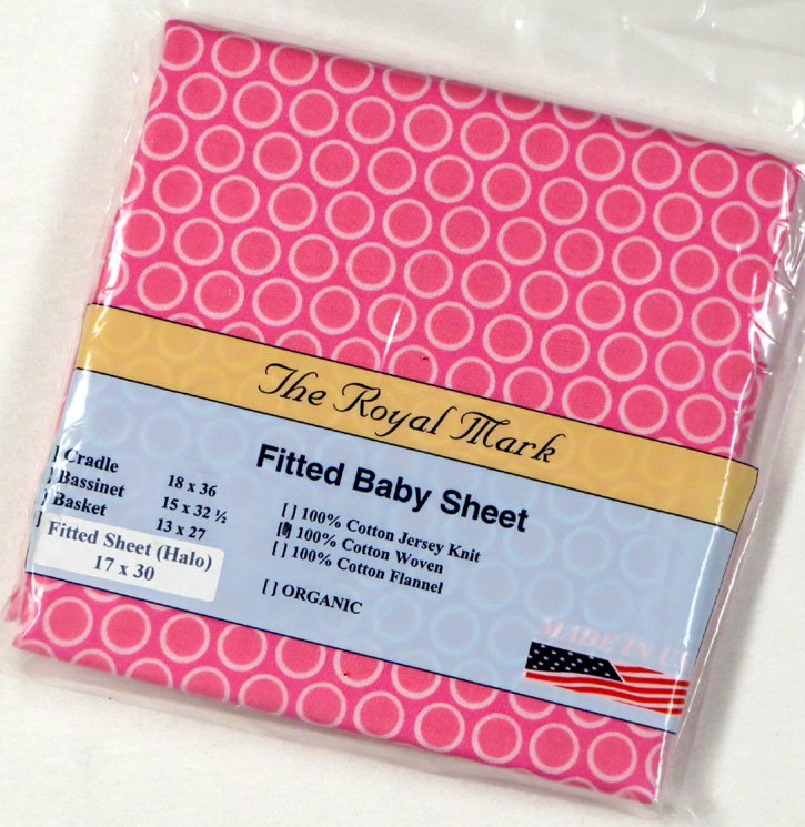 Primary Pink Bubbles Cotton Bassinest Sheet - Fits Halo