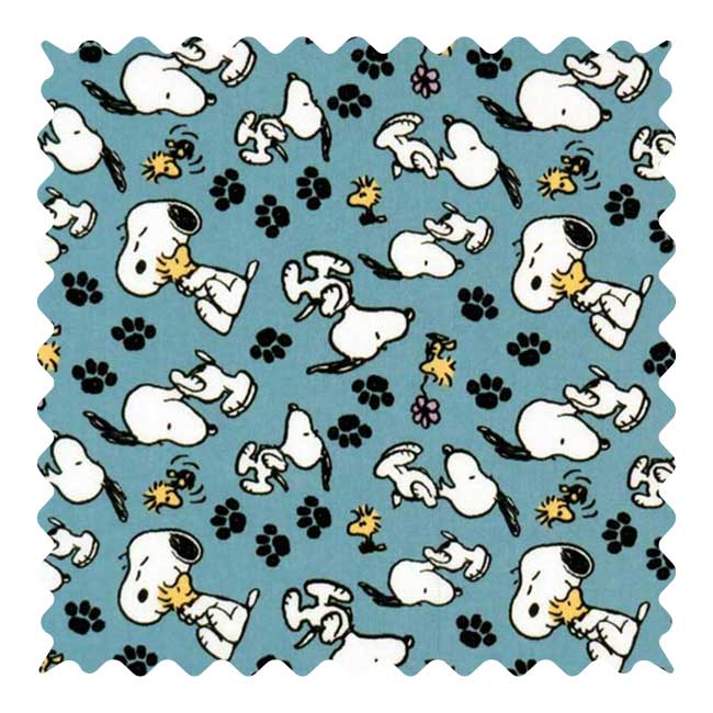 Snoopy Fabric - 100% Cotton - 23 x 45 Inches