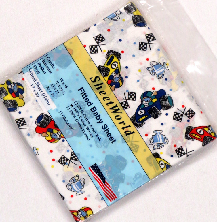 Race Cars Cotton Bassinest Sheet (Fits Halo)