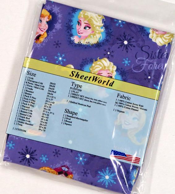 Frozen Sisters Cotton Portable / Mini Crib Sheet - 24 x 38