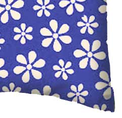 Percale Pillow Case - Primary Royal Floral Woven
