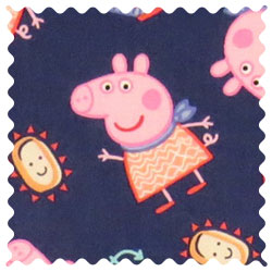Peppa Pig Navy Fabric