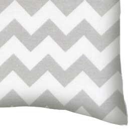 Percale Pillow Case - Grey Chevron Zigzag