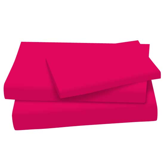 Hot Pink Cotton Jersey Knit Twin