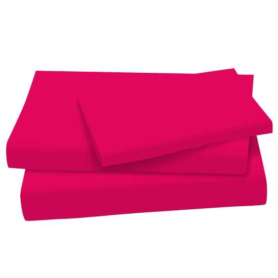 Hot Pink Cotton Jersey Knit Twin