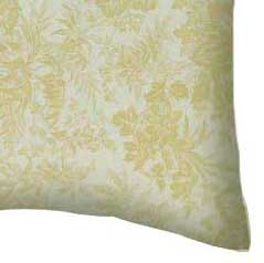 Percale Pillow Case - Floral Forest Cream
