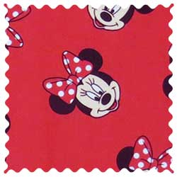 Minnie Mouse Faces Fabric