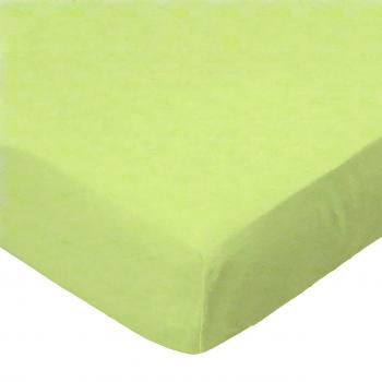 Oval (Stokke Mini) - Flannel - Lime - Fitted Oval - 100% Cotton Flannel - Solid Color Flannels Oval Sheets