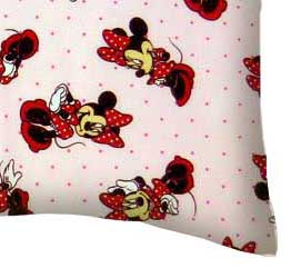Percale Pillow Case - Minnie Mouse Pink