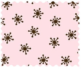 Fabric Shop - Brown Snowflake Pink Woven Fabric - Yard - 100% Cotton Woven - Primary Polka Dots Fabric Shop