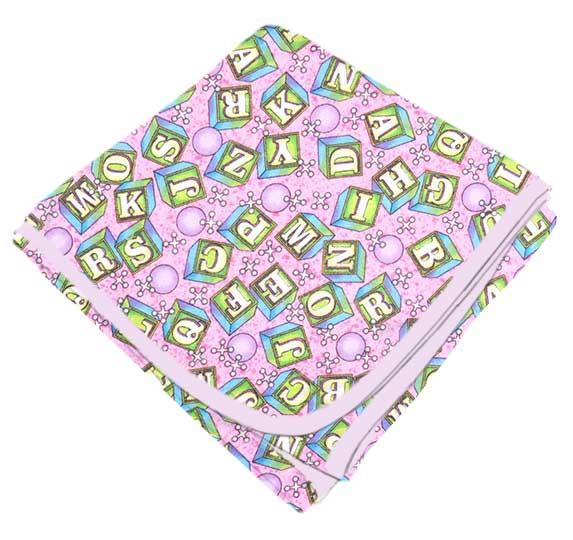 ABC Blocks Pink