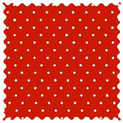Primary Pindots Red Woven Fabric