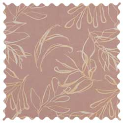 Mauve Leaves Fabric
