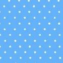 Portable / Mini Crib - Primary Pindots Blue Woven - Matching Dust Ruffle - 100% Cotton Woven - Primary Polka Dots Portable / Mini Crib Sheets