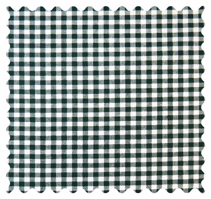 Hunter Green Gingham Check Fabric - 100% Cotton - 40 x 44 inches
