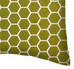 Percale Pillow Case - Sage Honeycomb