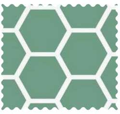 Seafoam Blue Honeycomb Fabric