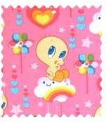 Tweety Love Pink Fabric