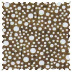 Confetti Dots Brown Fabric