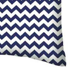 Percale Pillow Case - Royal Blue Chevron Zigzag