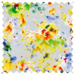 Paint Splash Gray Fabric