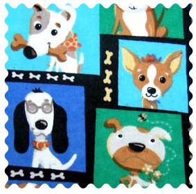 Fabric Shop - Doggy Pose Fabric - Yard - 100% Cotton Flannel - Baby Animal Prints Fabric Shop