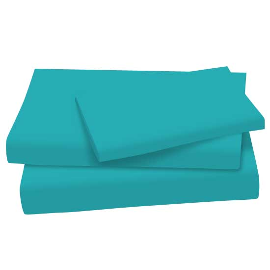 Teal Cotton Jersey Knit Twin