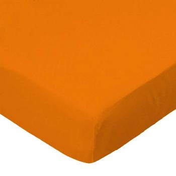 Oval (Stokke Mini) - Flannel - Orange - Fitted Oval - 100% Cotton Flannel - Solid Color Flannels Oval Sheets