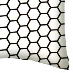 Percale Pillow Case - White Honeycomb