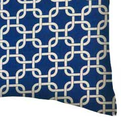 Percale Pillow Case - Royal Blue Links