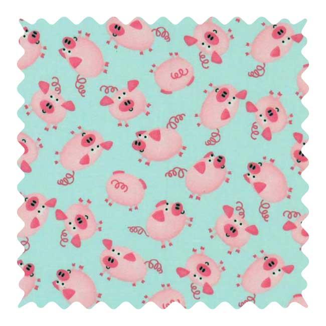 Pink Piggies Fabric