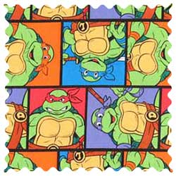 Ninja Turtles Poses Fabric