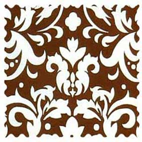 Brown Damask Fabric