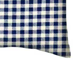 Percale Pillow Case - Royal Gingham Check