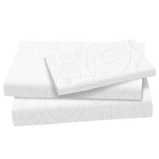White On White Multi Circles Cotton Woven Twin