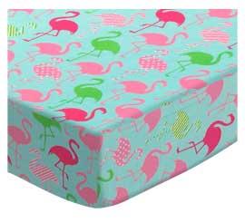 Flamingos Aqua Jersey Knit
