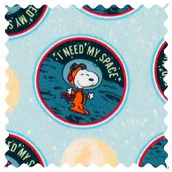 Snoopy Space Fabric