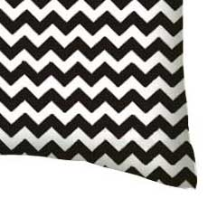 Percale Pillow Case - Black Chevron Zigzag
