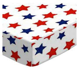 Primary Patriotic Stars On White Woven