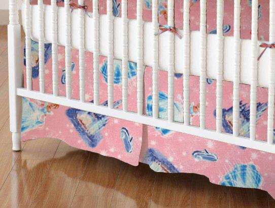 Crib Skirts - Crib Skirt - Cinderella - Tailored - 100% Cotton Percale - Character Prints - Kid Characters Crib Skirts
